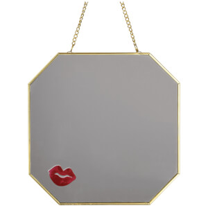 Candlelight Hanging Metal Mirror with Lips