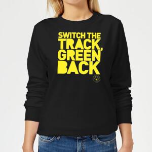 Danger Mouse Switch The Track Green Back Women's Sweatshirt - Black
