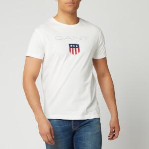 GANT Men's O1. Shield Short Sleeve T-Shirt - Eggshell