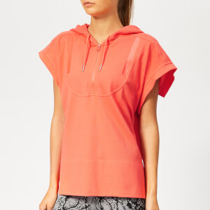 adidas by Stella McCartney Women's Hooded Short Sleeve T-Shirt - Hot Coral
