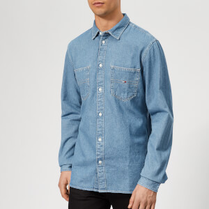 Tommy Jeans Men's Denim Pocket Shirt - Mid Indigo