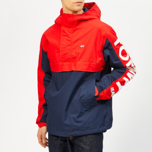 Tommy Jeans Men's Graphic Popover Jacket - Flame Scarlet/Black Iris