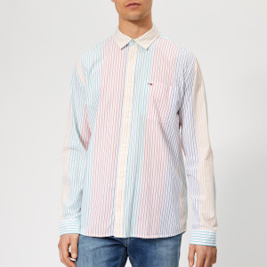 Tommy Jeans Men's Dobby Stripe Shirt - Multi