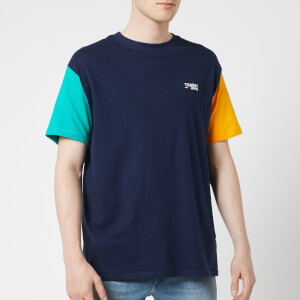 Tommy Jeans Men's Color Block T-Shirt - Black Iris/Multi