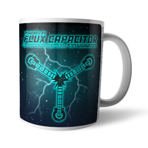 Back To The Future Powered By Flux Capacitor Mug