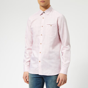 Ted Baker Men's Rabbbt Long Sleeve Shirt - Pink