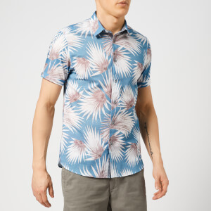 Ted Baker Men's Hedgeog Short Sleeve Shirt - Blue