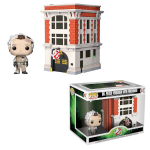Ghostbusters Peter with Firehouse Funko Pop! Town