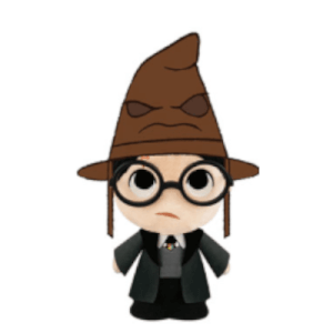 Harry Potter - Harry with Sorting Hat SuperCute Plush