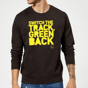 Danger Mouse Switch The Track Green Back Sweatshirt - Black