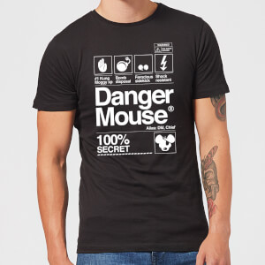 Camiseta Danger Mouse 100% Secret - Hombre - Negro