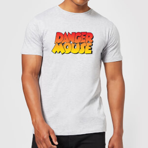 Danger Mouse Colour Logo Men's T-Shirt - Grey