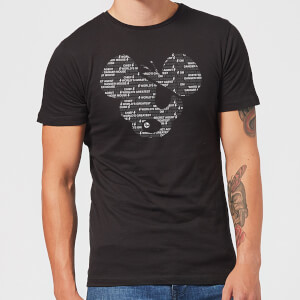 Danger Mouse Word Face Men's T-Shirt - Black