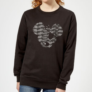 Danger Mouse Word Face Women's Sweatshirt - Black