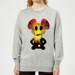 Danger Mouse Skyscraper Car Women's Sweatshirt - Grey