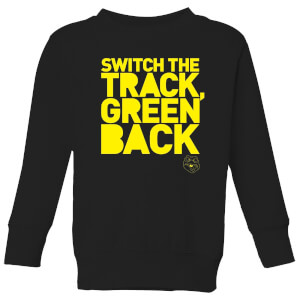 Danger Mouse Switch The Track Green Back Kinder Sweatshirt - Schwarz