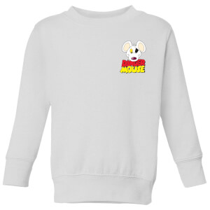 Danger Mouse Pocket Logo Kinder Sweatshirt - Weiß