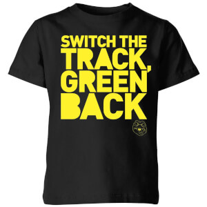 Danger Mouse Switch The Track Green Back Kinder T-Shirt - Schwarz