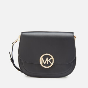 MICHAEL MICHAEL KORS Women's Lillie Medium Saddle Messenger Bag - Black