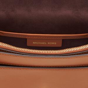 MICHAEL MICHAEL KORS Women's Lillie Medium Saddle Messenger Bag - Acorn: Image 5