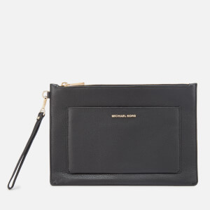 MICHAEL MICHAEL KORS Women's Pouches Large Pocket Zip Pouch - Black