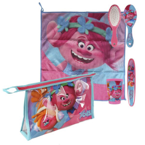 Trolls Princess Poppy & DJ Suki Overnight Wash Bag and Travel Accessory Set - Pink