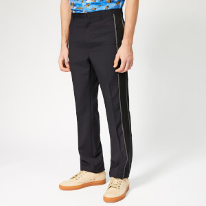 Lanvin Men's Ribbon Striped Trousers - Navy Blue