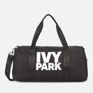 Ivy Park Women's Stacked Logo Gym Barrel Bag - Black