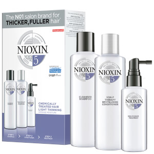 NIOXIN 3-Part System 5 Loyalty Kit for Chemically Treated Hair with Light Thinning
