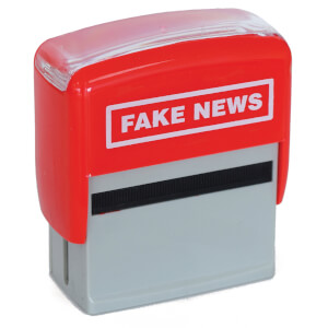 Fake News-Stempel