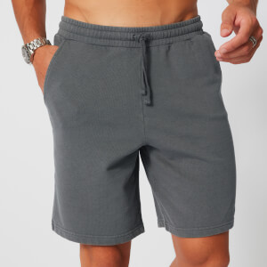 Washed Sweatshorts - Grijs