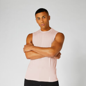 Luxe Classic Sleeveless T-Shirt — Light Pink