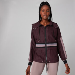 MP Sleeve Stripe Windbreaker Jacket - Malbec