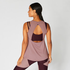 MP Women's Mesh Detail Open Back Vest - Fawn