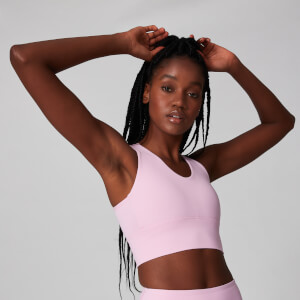 Power Longline Sports Bra - Orchid Ice