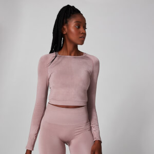 Shape Seamless Crop Top - Ljusbrun