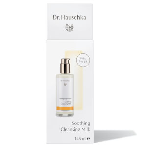 Dr. Hauschka Soothing Cleansing Milk with Cosmetic Sponge and Eye Make Up Remover Sachet
