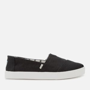 TOMS Men's Alpargata Vegan Cupsole Slip-On Pumps - Black