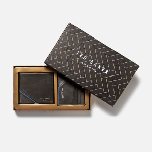 Ted Baker Men's Foals Wallet and Card Holder Gift Set - Black