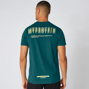Myprotein Crew Triple Graphic T-Shirt - Alpine