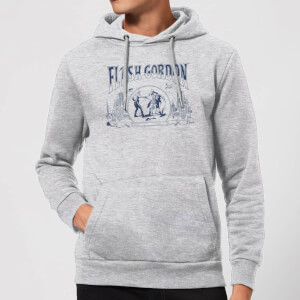 Flash Gordon Chest Piece Hoodie - Grey