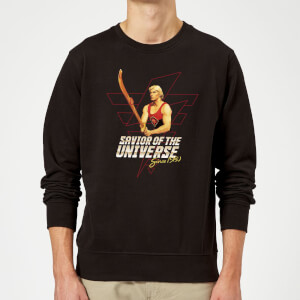 Sudadera Flash Gordon Savior Of The Universe Since 1980 - Hombre - Negro