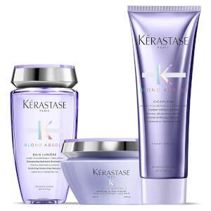 Kérastase Blond Absolu Lumiere Shampoo, Conditioner and Masque Trio -hiustenhoitosetti