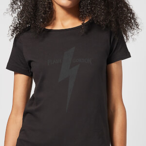 T-Shirt Flash Gordon Bolt - Nero - Donna
