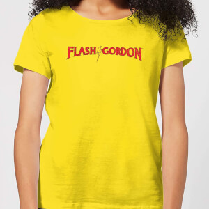 T-Shirt Flash Gordon Classic Logo - Giallo - Donna