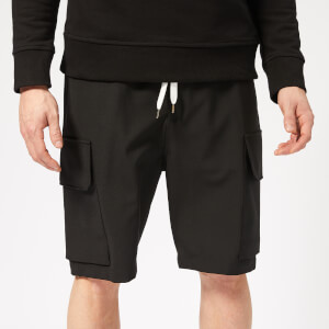 Neil Barrett Men's Slouch Cargo Shorts - Black/Off White