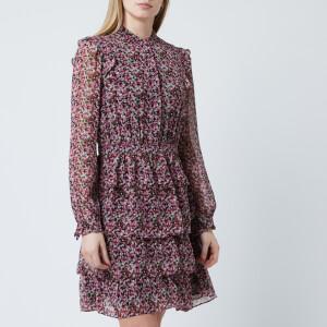 MICHAEL MICHAEL KORS Women's Floral Shirt Dress - Black/Electric Pink