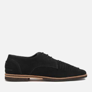 Hudson London Men's Chatra Woven Suede Derby Shoes - Black