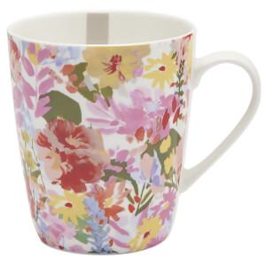 Joules Hollyhock Meadow Floral Mug - White