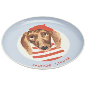 Joules Dog Side Plate - Blue